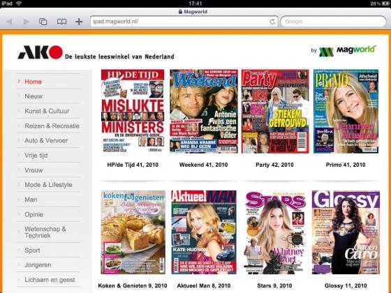 Pers, Sp!ts en Metro in de AKO tijdschriften app, Mediafacts, MediaFacts