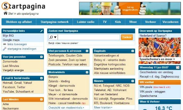 20 jaar oude Startpagina trekt nog maandelijks 5 miljoen bezoekers
