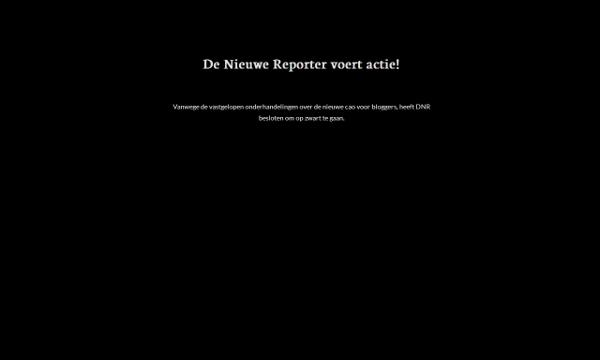 De Nieuwe Reporter op zwart, Mediafacts, MediaFacts