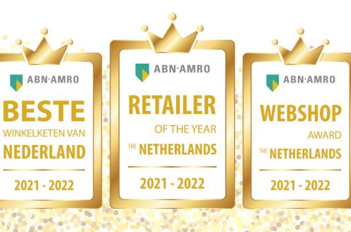 De categoriewinnaars van de 'ABN AMRO Retailer of the Year' verkiezingen 2021-2022 zijn bekend!