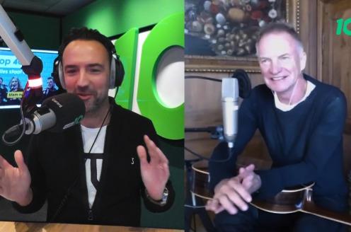 Sting geeft in het Nederlands startsein voor Radio 10 Top 4000