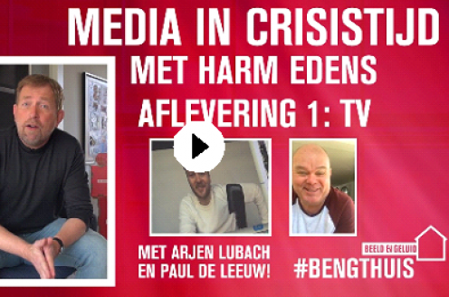 Harm Edens maakt serie Media in Crisistijd voor Beeld en Geluid