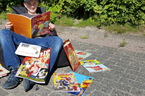 """Tim (10) is hoofdredacteur van nieuw stripblad  """"Met strips wordt lezen makkelijker"""""""